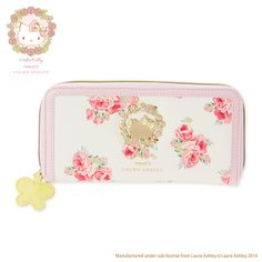 Hello Kitty Long wallet (Hello Kitty meets LAURA ASHLEY)