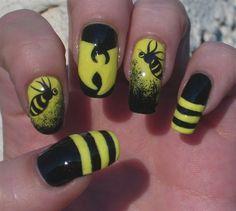 Musician-Inspired Nail Art..Wu Tang