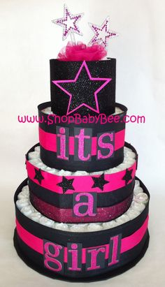 Punk Princess Diaper Cake