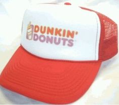 2897fca41f5 Dunkin  Donuts Trucker Hat Mesh Hat NEW Adjustable one size fits most Orange