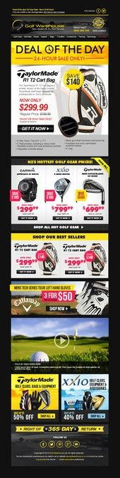 Golf Ecommerce business seeking new theme for email templates by Facebook Cover Design, Email Templates, New Theme, Best Sellers, Ecommerce, Business, Golf, Day, Store
