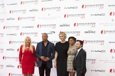 AMBI Group producer Monika Bacardi with HSH Princess Charlene of Monaco, Terrence Howard,  Taraji P. Henson and Danny Strong at the Opening Ceremony of the TV Festival Monte Carlo!