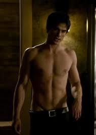Damon Salvatore, the sexiest vampire EVER!  Those pants could be just a tad lower though! ;)