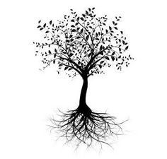 Oak tree tattoo silhouettes 69 Ideas for 2019 Oak Tree Silhouette, Tree Silhouette Tattoo, Tree Roots Tattoo, Pine Tree Tattoo, Tree Drawing Simple, Willow Tree Wedding, Vector Trees, Stock Image, Tree Photography