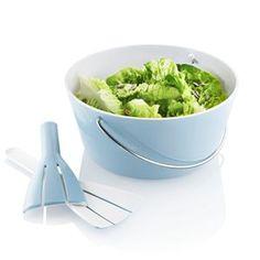 Eva Solo, bolle m/salatbestikk lyseblå