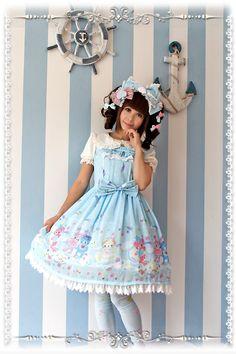 Sleeping Bear Infanta Chiffon Lolita Jumper Dress