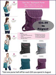 Thirty-One Fall 2013 Vary You Backpack Purse, Wristlet, and Key ...