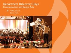 Interested in communication and design arts? Visit campus during their department discovery day on Friday, October 31. http://anderso.nu/comm-design
