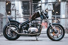 Please spare a thought for the poor old chopper. King of the custom scene for almost 40 years, the resurgence of the bobber and cafe look in the first decade of… Bobber Bikes, Yamaha Motorcycles, Bobber Motorcycle, Vintage Motorcycles, Custom Motorcycles, Custom Bikes, Yamaha 650, Triumph, Bmw
