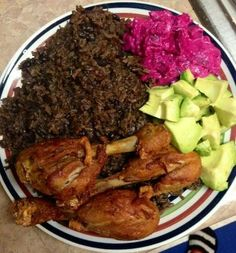 This Black Mushroom Rice (Diri ak Djon Djon) recipe uses black mushrooms native to the northern part of Haiti. Considered a delicacy, they are not used in everyday cooking. When boiled, they releas… Haitian Food Legume, Haitian Food Recipes, Carribean Food, Caribbean Recipes, Hatian Food, Pollo Guisado, Dominican Food, Island Food, Best Food Ever