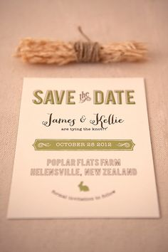 PRETTY! Magnolia Rouge: Green and Brown Modern Typography Invitation