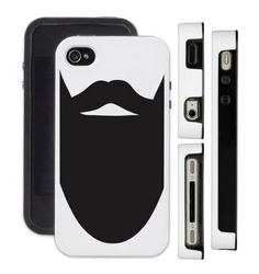Phone case for iPhone  or Samsung  Beard phone case by DickensInk, £10.50