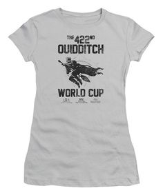 Silver Harry Potter 'Quidditch World Cup' Tee - Juniors #zulily #zulilyfinds
