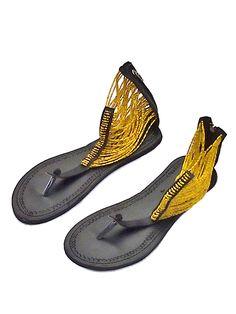 cb7ba3f6ac7e Beautiful Handmade Leather and Bead Sandals