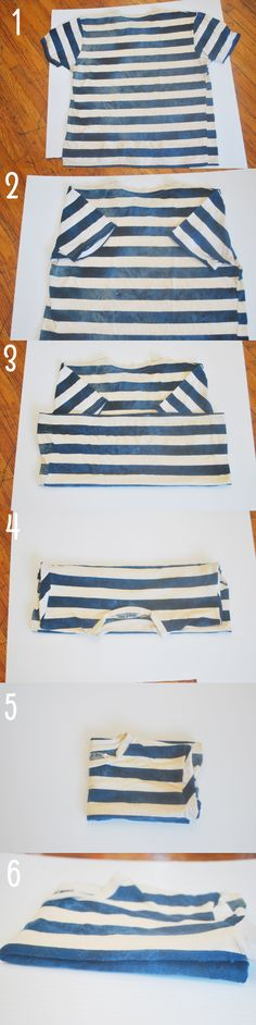Folding Shirts To Save Space in your closet drawers or while packing