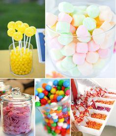 Bonbons colorés pour mariage