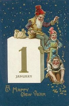 Vintage New Years Postcard!!! Bebe'!!! Love this vintage post card!!!