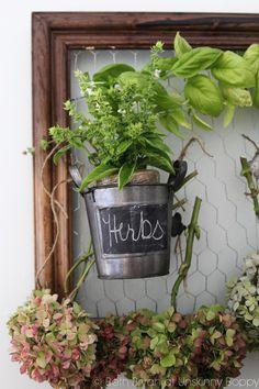 Drying Hydrangeas and Herbs on a DIY Drying Rack