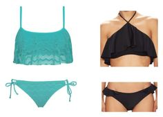 """""""Beach Outfits"""" by nerdylittlelibrarian on Polyvore featuring Roxy and 6 Shore Road"""