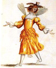 Mollier/Benserade, Ballet Royal de la Nuit, 1653: Heure ou première vielle (Costume design H. de Gissey)