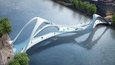 Contemporary footbridge in Dublin [출처] 교량디자인-iBRIDGE _ Contemporary footbridge in Dublin|작성자 자스플래닝