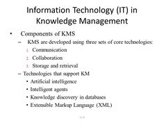 Approaches to Knowledge Management 1-Process approach to knowledge ...