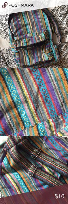 Funky design backpack! Super colorful drug rug style like backpack. Never worn. Bags Backpacks