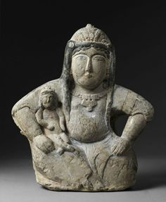 Uncommon art from Iran. Large Seated Woman and child. Perhaps the ancient Iranic goddess Anahita or a non-Islamic decorative figure. Seljuks were Islamic-Turks and their art contains Anatolian traditions Ancient Goddesses, Gods And Goddesses, Art Premier, Art Antique, Art Sculpture, Mother Goddess, Sacred Feminine, Ancient Artifacts, Ancient Civilizations