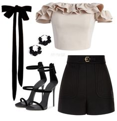 Chic Combination : Chic Combination – Inspirations & Obsessions This outfit combines a little bit of every genre to end up being a smart casual chic combination. Komplette Outfits, Kpop Fashion Outfits, Stage Outfits, Cute Casual Outfits, Polyvore Outfits, Stylish Outfits, Polyvore Casual, School Outfits, Polyvore Fashion
