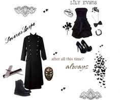 """Severus Snape and Lily Evams"" by hobbitsinhogwarts on Polyvore"