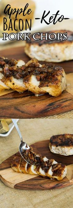 Make our Apple Pork Chops dressed with bacon, onions and ginger for a quick, hearty fall time dinner!