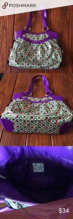Spotted while shopping on Poshmark: Purple Vera Bradley frill floral shoulder bag! #poshmark #fashion #shopping #style #Vera Bradley #Handbags