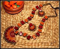 Handmade terracotta jewellery - Craft Shops India
