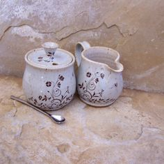 Icelandic Blue and White Handmade Stoneware by montezumamudd, $34.00