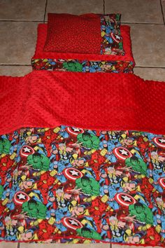 Super Hero nap mat cover, blanket, pillow and pillow case. Please send me a message for inquiries.