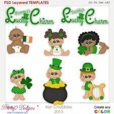 Irish St. Patrick's Day Chubbies Layered Element Templates  cudigitals.com clipart template cu commercial scrap scrapbook digital graphics #cu #scrapbooking #photoshop #digiscrap
