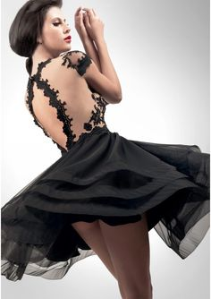 2016 Short Prom Dresses With Sleeves Appliques Little Black Homecoming Dresses Hollowed Back A Line Party GownsFor Juniors Cheap Short Prom Dresses, Prom Dresses With Sleeves, Homecoming Dresses, Beautiful Dresses, Nice Dresses, Amazing Dresses, Formal Dresses, Wedding Dresses, Sexy Little Black Dresses