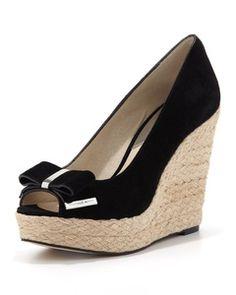 MICHAEL Michael Kors - Meg Suede Bow Wedge Sandal | Hukkster I want!!!