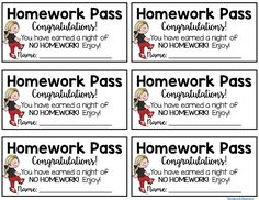 images of homework passes