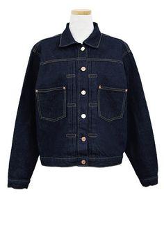 Stitched Denim Jacket, Dark Blue