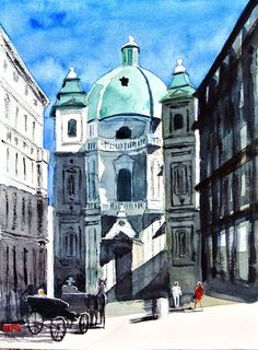 Wien Peterskirche 8 2016 Aquarell auf Bütten 30x40 cm #Martin Räder #Instagram @artoflifecolours #wien #vienna #kunst #art #aquarelle #watercolours #city #painting #artwork #artistoninstagram #artist_sharing #artist_4_help #holiday #paintingonholiday - my website: www.martin-raeder-bildergalerie.de