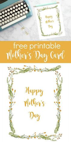 Get a head start with this Happy Mother's Day Printable Card. This is a free printable that has a beautiful wreath of yellow flowers that is simply stated. The inside of the card is blank, so…