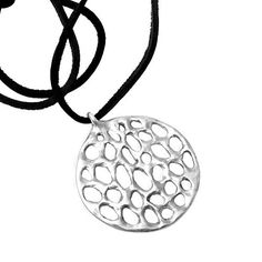SERENA #PENDANT IN STERLING SILVER ON LEATHER CORD - Joanna Morgan Designs #necklace #jewelry