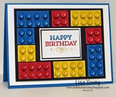 Add Ink and Stamp: Lego Card