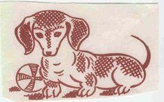 Weiner dog transfer from Flickr