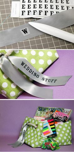 Rub-On Letters stick nicely to satin ribbon. Who knew?
