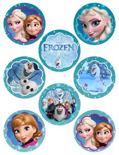 TWO Sheets of Digital Frozen Printable Birthday Party Cupcake Toppers Frozen Themed Birthday Party, Disney Frozen Birthday, Disney Princess Frozen, Frozen Movie, Elsa Frozen, Bolo Frozen, Frozen Cupcake Toppers, Frozen Cupcakes, Frozen Cake Topper