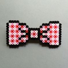 Perler Bead Bow Tie gingham pattern by HarmonArt2
