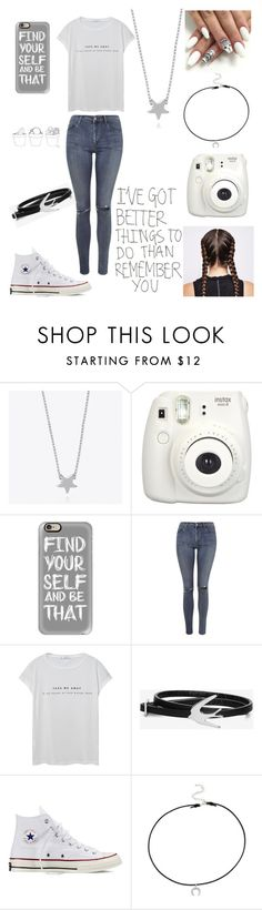 """Untitled #56"" by bethie3313 ❤ liked on Polyvore featuring Minnie Grace, Fujifilm, Casetify, Topshop, MANGO, McQ by Alexander McQueen, Converse and Dogeared"