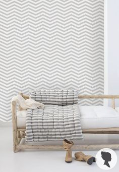 Self Adhesive Chevron Pattern Removable Wallpaper D035 by Livettes